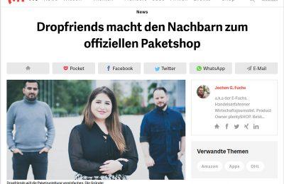 Toller t3n.de Bericht über DropFriends